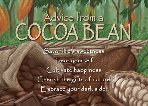Advice from a Cocoa Bean Jumbo Magnet