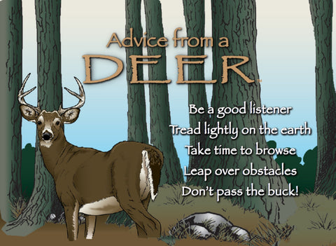 Advice from a Deer Jumbo Magnet