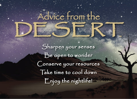 Advice from the Desert Jumbo Magnet