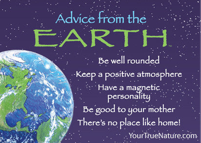 Advice from the Earth Jumbo Magnet