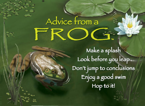 Advice from a Frog Jumbo Magnet