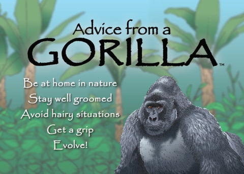Advice from a Gorilla Jumbo Magnet