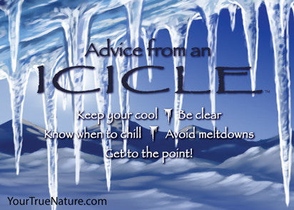 Advice from an Icicle Jumbo Magnet