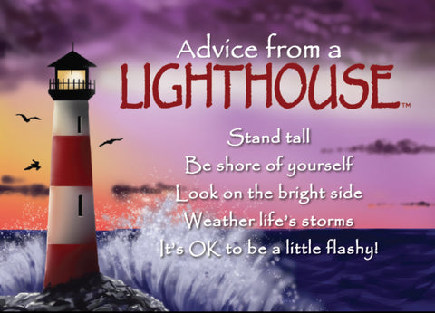 Advice from a Lighthouse Jumbo Magnet