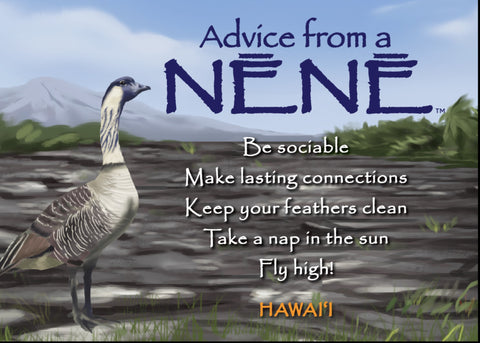 Advice from a Nēnē- Hawai'i- Jumbo Magnet