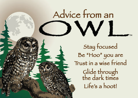 Advice from an Owl Jumbo Magnet