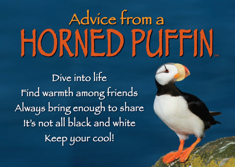 Advice from a Horned Puffin Jumbo Magnet