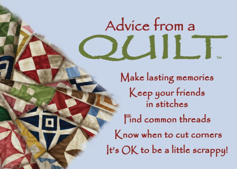 Advice from a Quilt Jumbo Magnet