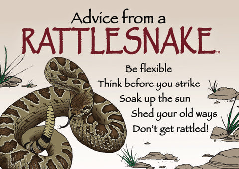 Advice from a Rattlesnake- Jumbo Magnet