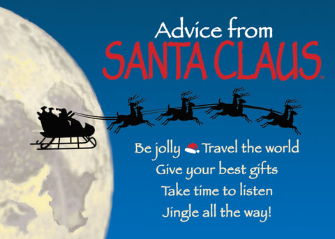 Advice from Santa Claus Jumbo Magnet