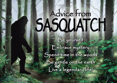 Advice from Sasquatch Jumbo Magnet