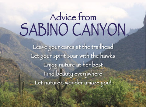 Advice from Sabino Canyon Jumbo Magnet