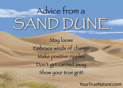 Advice from a Sand Dune Jumbo Magnet – Your True Nature, Inc