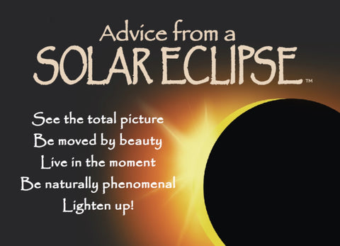 Advice from a Solar Eclipse Jumbo Magnet