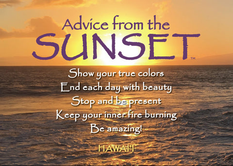 Advice from a Sunset- Hawai'i Beach Jumbo Magnet
