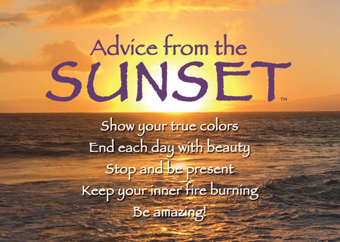 Advice from the Sunset- Beach- Jumbo Magnet