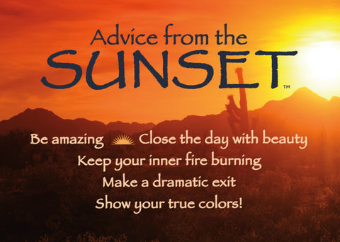 Advice from the Sunset- Southwest- Jumbo Magnet