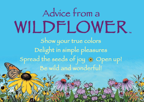 Advice from a Wildflower Jumbo Magnet
