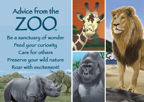 Advice from the Zoo Jumbo Magnet