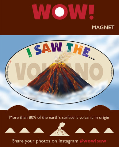 I SAW the Volcano Flexible Magnet