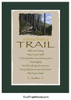 Advice from a Trail Mini Matted Print