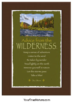 Advice from the Wilderness Mini Matted Print