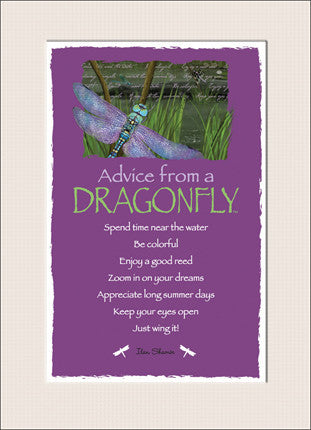 Advice from a Dragonfly Mini Matted Print