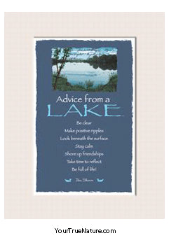 Advice from a Lake Mini Matted Print