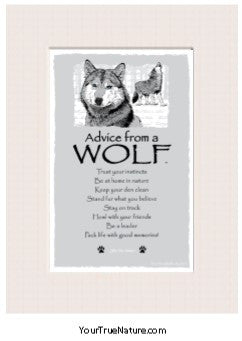 Advice from a Wolf Mini Matted Print