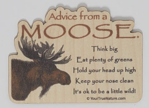 Advice from a Moose - (original design)Wood Sticker