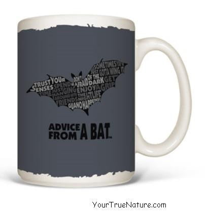 Advice from a Bat Outline Mug