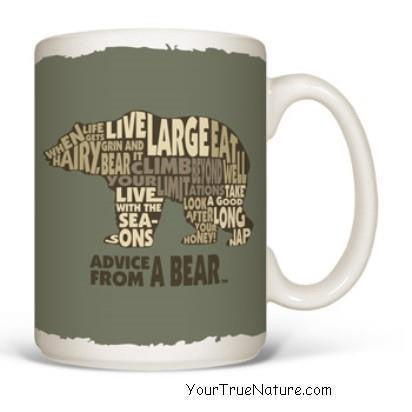 Advice from a Bear Outline Mug