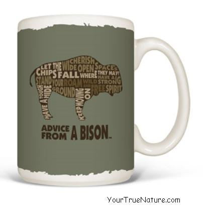 Advice from a Bison Outline Mug