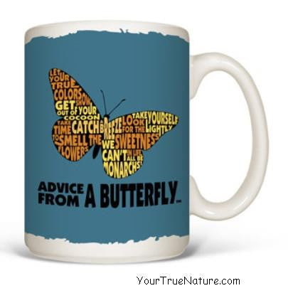 Advice from a Butterfly Outline Mug
