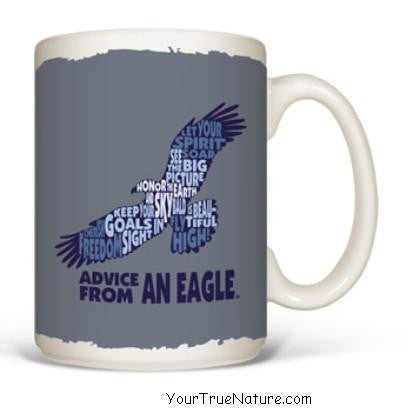 Advice from an Eagle Outline Mug – Your True Nature, Inc