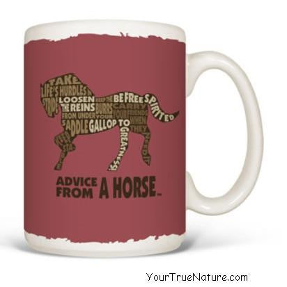 Advice from a Horse Outline Mug