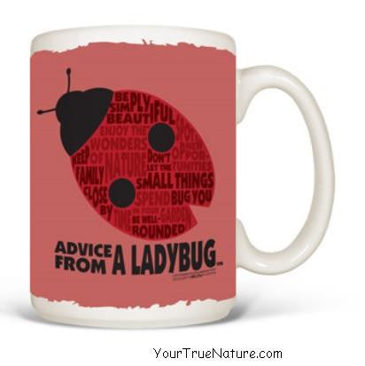 Advice from a Ladybug Outline Mug