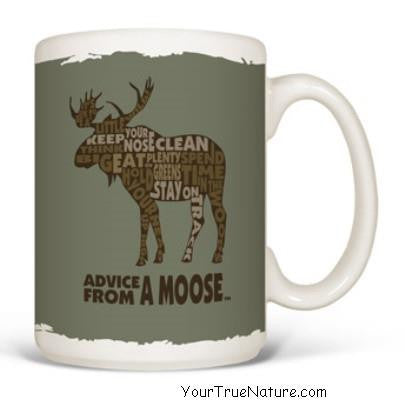 Advice from a Moose Outline Mug