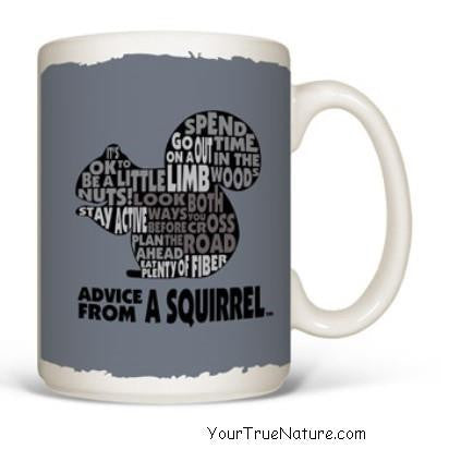 Advice from a Squirrel Outline Mug