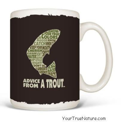 Advice from a Trout Outline Mug