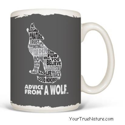 Advice from a Wolf Outline Mug