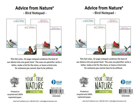 Advice from Nature- Bird Notepad