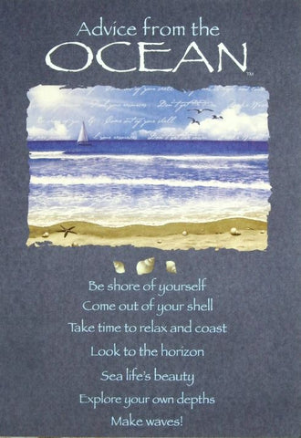 Advice from the Ocean Greeting Card - Birthday