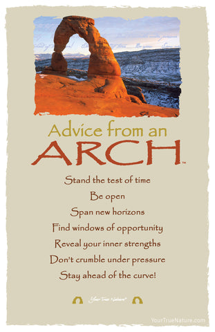 Advice from an Arch - Frameable Art Postcard