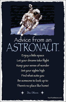 Advice from an Astronaut - Frameable Art Postcard
