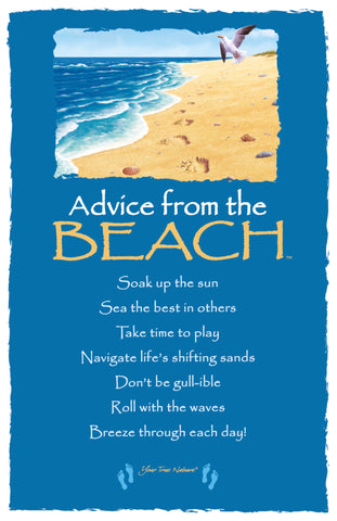 Advice from the Beach Frameable Art Card