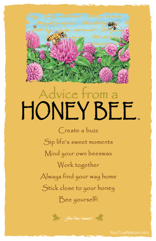 Advice from a Honey Bee Frameable Art Postcard