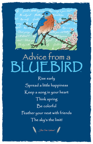 Advice from a Bluebird Frameable Art Card