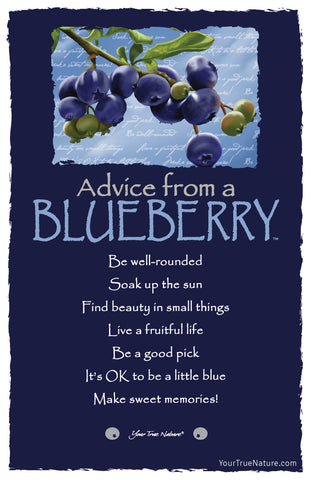 Advice from a Blueberry Frameable Art Card