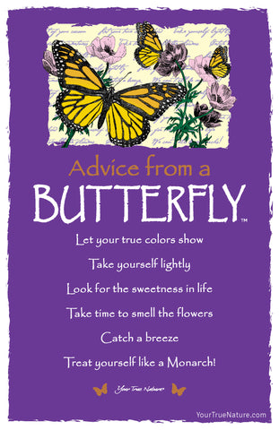Advice from a Butterfly Frameable Art Postcard